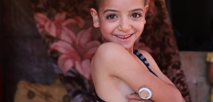 Moussa tiene seis años y le diagnosticaron diabetes tipo 1 hace dos años.