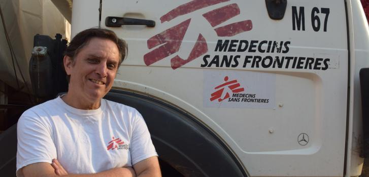 Juan Pablo Gimeno (Chile) trabajando con Médicos Sin Fronteras como logista.