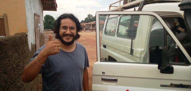Pablo Velarde Peñaranda, logista en Médicos Sin Fronteras
