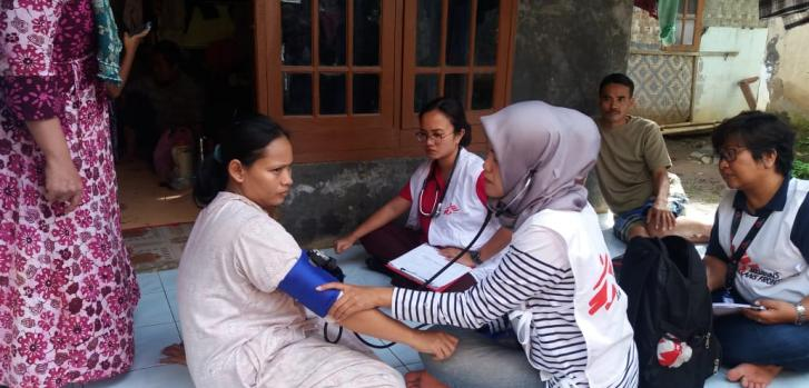 Respuesta de emergencia al tsunami en Indonesia