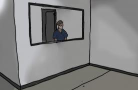 Yotibel Moreno, en la sala de despedidas, intenta documentar el trabajo que hace nuestro equipo de Salud mental cuando una persona fallece, sin imaginar que días después sería protagonista de la historia.