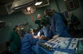Heridos en las protestas en la Franja de Gaza