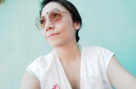 Julia García Zamora, trabajadora colombiana de Médicos Sin Fronteras en India.