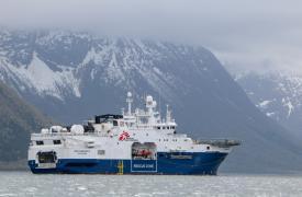 El nuevo barco alquilado de MSF se prepara para zarpar desde Noruega. Mayo de 2021