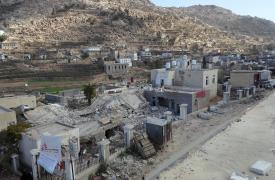 El hospital Shiara, una instalación apoyada por MSF en el distrito de Razeh (norte de Yemen), fue alcanzado por un proyectil en el norte de Yemen el 10 de enero de 2016