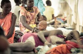 Las instalaciones de Médicos Sin Fronteras en Bentiu, Sudán del Sur, fotografiadas en 2016.