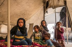 Campamento de Ain Issa, Siria, septiembre 2017. El campamento, situado a unos 60 km de Raqqa, da la bienvenida a 15.000 personas que huyen de las luchas en las ciudades de Raqqa y Deir Ezzor.