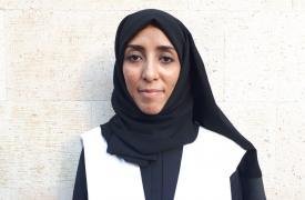 Monia Khaled, coordinadora de las actividades de agua y saneamiento de Médicos Sin Fronteras (MSF) en Yemen. ©MSF/Dalila Mahdawi