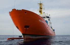 El Aquarius, buque de búsqueda y rescate