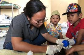 Asistimos a la población afectada por el tsunami