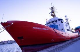 Aquarius: barco de búsqueda y rescate en el Mediterráneo