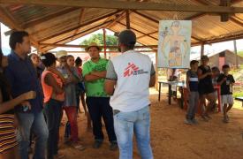 En Febrero de 2019 realizamos una campaña de distribución de mosquiteros en la municipalidad de Sifontes, un área minera en el estado de Bolívar, en Venezuela.