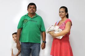 Marilyn Díaz migró a Colombia desde Venezuela. En Médicos Sin Fronteras la atendimos por problemas físicos y por que su hijo apenas comía. Estaba embarazada y dio a luz en el hospital.