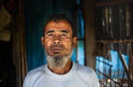 Suleiman es un vigilante de Médicos Sin Fronteras (MSF) que vive en el pueblo de Nget Chaung, en el estado central de Rakhine, en Myanmar.