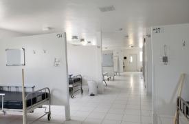 Parte del nuevo centro de tratamiento COVID-19 de Médicos Sin Fronteras en Drouillard, Puerto Príncipe (Haití).