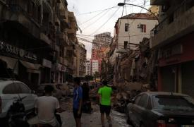 Momentos después de la explosión en las calles de Beirut  ©Mario Fawaz / Médecins Sans Frontières