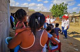 Actividades de promoción de la salud en un asentamiento de migrantes venezolanos e indígenas Wayuu en Riohacha, La Guajira.