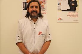 Lucas Molfino, médico argentino trabajando en respuesta a la explosión en Beirut, Líbano.