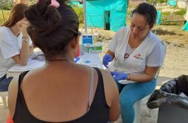 En lo que va de enero, los equipos de Médios Sin Fronteras en terreno atendieron a 375 personas afectadas con malaria en La Gabarra.