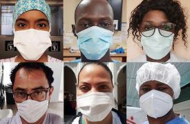 Trabajadores y trabajadoras de primera línea de Médicos Sin Fronteras en respuesta a la pandemia el nuevo coronavirus.