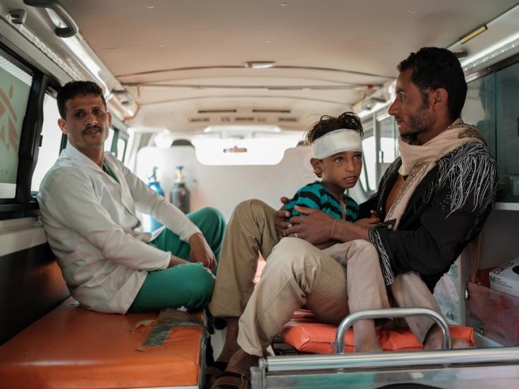 Ambulancia en Yemen